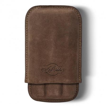 Lucea Brown 3 Cigar Case