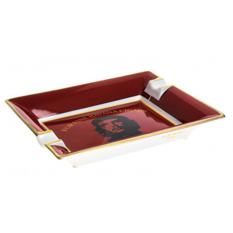 Elie Bleu Cendrier cigare Porcelaine Ché Rouge