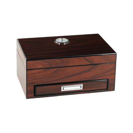 Brown Wood Humidor with its Accessories