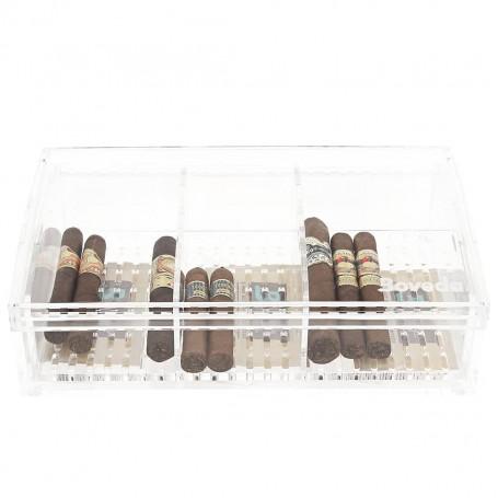 Boveda Large Plexiglass Cigar Box