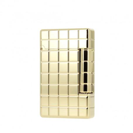 Ligne 2 Initial Gilded Bronze Gold Quadrille Lighter