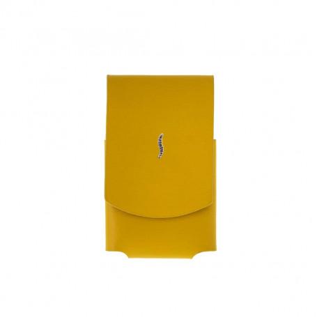 Etui briquet miniJet cuir jaune