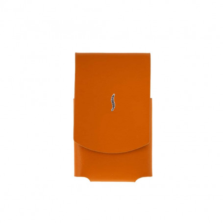 Etui briquet miniJet cuir orange