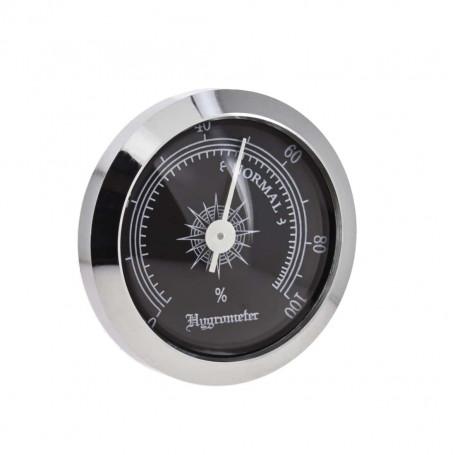 Black Round Needle Hygrometer