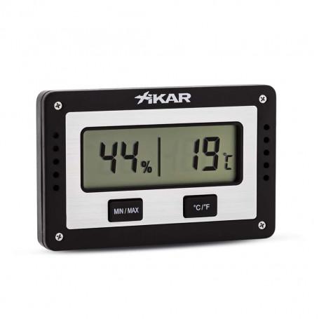 Xikar PuroTemp Rectangular Electronic Hygrometer