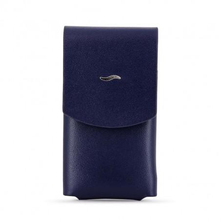 Slim 7 Lighter Leather Blue Case