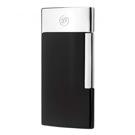 Briquet De Luxe E-Slim Noir et Chromé