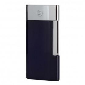 Briquet De Luxe E-Slim Bleu et Chromé