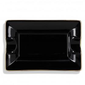 Cendrier Cigare Céramique noir et doré