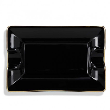 Black and Gold Ceramic Cigar Ashtray