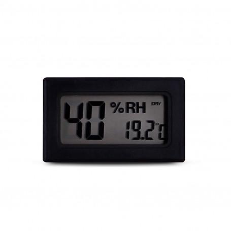 Black Digital Thermohygrometer