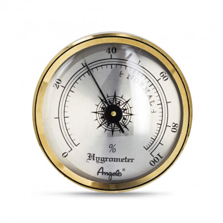 Gold Angelo Needle Hygrometer