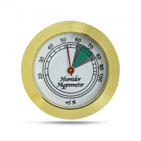 Golden Hygrometer for Humidor Facade