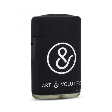 Briquet Torche Noir Art & Volutes