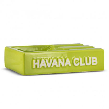 Green Rectangular El Segundo Havana Club Cigar Ashtray