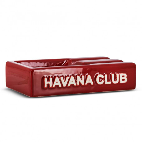 Red Rectangular El Segundo Havana Club Cigar Ashtray