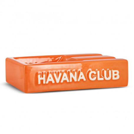 Orange Rectangular El Segundo Havana Club Cigar Ashtray