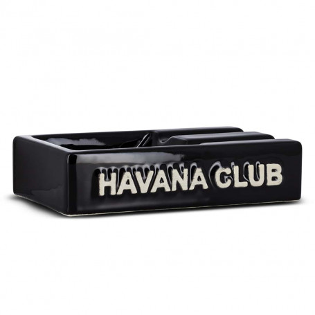Black Rectangular El Segundo Havana Club Cigar Ashtray