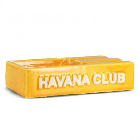 Yellow Rectangular El Segundo Havana Club Cigar Ashtray