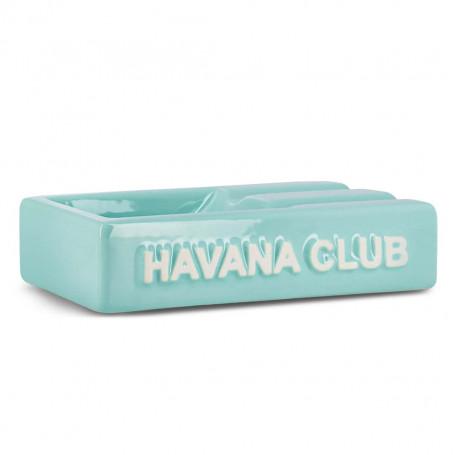 Blue Rectangular El Segundo Havana Club Cigar Ashtray