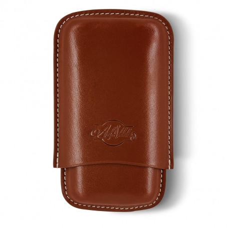 Amaro Brown 3 Cigars Case