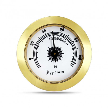 Gold Round Hygrometer