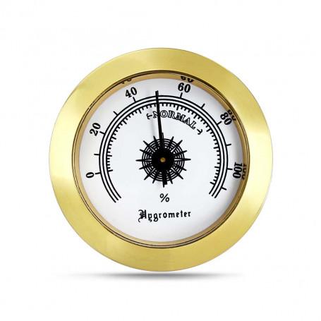 Hygrometre Rond Doré