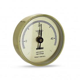 Thermomètre Rond Doré